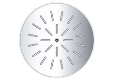 DAWN RSS0930100-8 SINGLE FUNCTION 8 INCH ROUND RAIN SHOWERHEAD IN CHROME