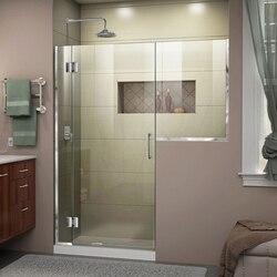 DREAMLINE D1233036 UNIDOOR-X 59-59 1/2 W X 72 H FRAMELESS HINGED SHOWER DOOR