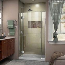 DREAMLINE D1300672 UNIDOOR-X 42-42 1/2 W X 72 H FRAMELESS HINGED SHOWER DOOR