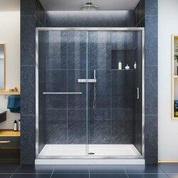 DREAMLINE SHDR-0960720 INFINITY-Z 56-60 W X 72 H FRAMELESS SLIDING SHOWER DOOR, CLEAR GLASS