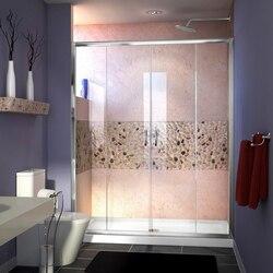 DREAMLINE SHDR-1160726 VISIONS 56-60 W X 72 H FRAMELESS SLIDING SHOWER DOOR