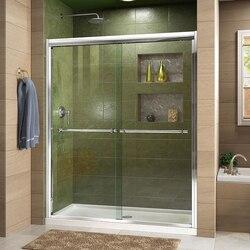 DREAMLINE SHDR-1260728 DUET 56-60 W X 72 H BYPASS SLIDING SHOWER DOOR
