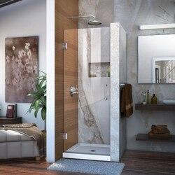 DREAMLINE SHDR-20287210F UNIDOOR 28 W X 72 H FRAMELESS HINGED SHOWER DOOR, CLEAR GLASS