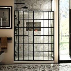 DREAMLINE SHDR-2458720-89 UNIDOOR TOULON 58-58 1/2 W X 72 H FRAMELESS HINGED SHOWER DOOR