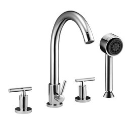 DAWN D16 2503C TUB FILLER WITH PERSONAL HANDSHOWER AND LEVER HANDLES IN CHROME
