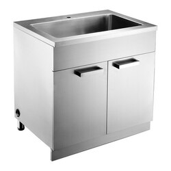 DAWN SSC3036 STAINLESS STEEL SINK BASE CABINET WITH BUILT-IN GARBAGE CAN