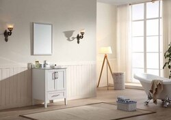 DAWN AMRWC242134 ROSS SERIES 24-1/2 INCH FREE STANDING VANITY CABINET ONLY IN WHITE
