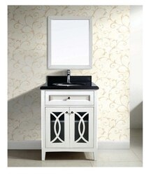 DAWN AACS-3001 31 INCH FREE STANDING VANITY SET IN WHITE