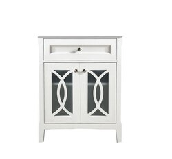 DAWN AACC302134-01 30 INCH FREE STANDING SOLID WOOD FRAMED VANITY CABINET IN WHITE