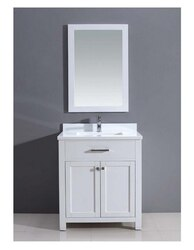 DAWN AAMS-3001 30 INCH FREE STANDING VANITY SET IN PURE WHITE