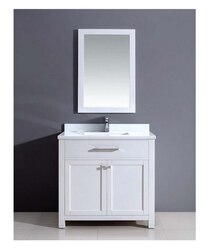DAWN AAMS-3601 36 INCH FREE STANDING VANITY SET IN PURE WHITE