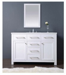 DAWN AAMS-4801 48 INCH FREE STANDING VANITY SET IN PURE WHITE