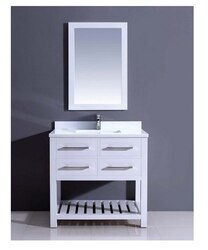 DAWN AAPS-3601 36 INCH FREE STANDING VANITY SET IN PURE WHITE