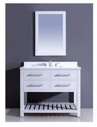 DAWN AAPS-4201 42 INCH FREE STANDING VANITY SET IN PURE WHITE