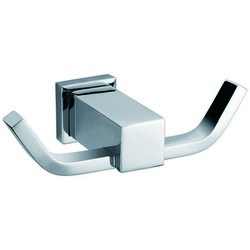 DAWN 8204-01S SQUARE SERIES DOUBLE ROBE HOOK IN SATIN NICKEL FINISH