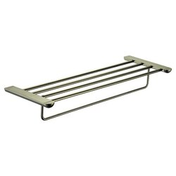DAWN 95010202BN 24 INCH 4-RAIL TOWEL SHELF IN BRUSHED NICKEL