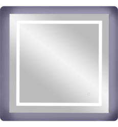 APTATIONS 350-3636HW SERGENA 36 INCH SQUARE FRAMELESS LED BACK-LIT WALL MIRROR WITH TOUCH SENSOR