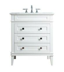 STUFURHOME HD-1041W-36-CR CORINNE 36 INCH WHITE SINGLE SINK BATHROOM VANITY
