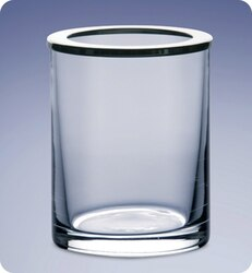 WINDISCH 911261 ADDITION PLAIN CLEAR CRYSTAL GLASS TOOTHBRUSH HOLDER