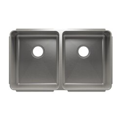 JULIEN 003232 CLASSIC 32 1/2 * 19 1/2 * 10 UNDERMOUNT DOUBLE BOWL STAINLESS STEEL KITCHEN SINK
