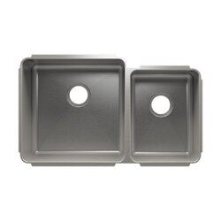 JULIEN 003233 CLASSIC 32 1/2 * 19 1/2 * 10 UNDERMOUNT DOUBLE BOWL STAINLESS STEEL KITCHEN SINK