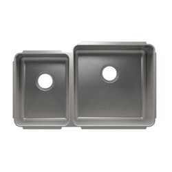 JULIEN 003234 CLASSIC 32 1/2 * 19 1/2 * 10 UNDERMOUNT DOUBLE BOWL STAINLESS STEEL KITCHEN SINK