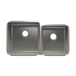 JULIEN 003236 CLASSIC 35 1/2 * 19 1/2 * 10 UNDERMOUNT DOUBLE BOWL STAINLESS STEEL KITCHEN SINK