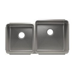 JULIEN 003237 CLASSIC 35 1/2 * 19 1/2 * 10 UNDERMOUNT DOUBLE BOWL STAINLESS STEEL KITCHEN SINK
