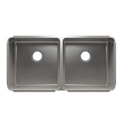 JULIEN 003238 CLASSIC 38 1/2 * 19 1/2 * 10 UNDERMOUNT DOUBLE BOWL STAINLESS STEEL KITCHEN SINK