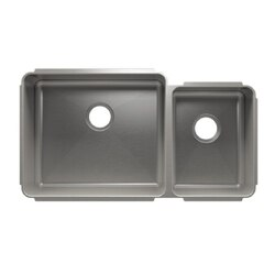 JULIEN 003239 CLASSIC 35 1/2 * 19 1/2 * 10 UNDERMOUNT DOUBLE BOWL STAINLESS STEEL KITCHEN SINK