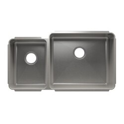 JULIEN 003241 CLASSIC 35 1/2 * 19 1/2 * 10 UNDERMOUNT DOUBLE BOWL STAINLESS STEEL KITCHEN SINK