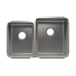 JULIEN 003247 CLASSIC 29 1/2 * 19 1/2 * 10 UNDERMOUNT DOUBLE BOWL STAINLESS STEEL KITCHEN SINK