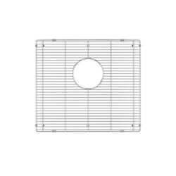 JULIEN 200905 GRID FOR STAINLESS STEEL, URBANEDGE, J7 AND CLASSIC SINKS, 18 X 16 INCH IN ELECTRO POLISH FINISH