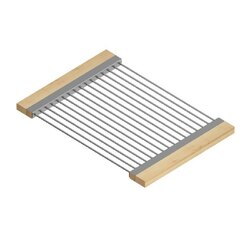 JULIEN 215306 DRYING RACK 12 X 17 INCH WITH HANDLES FOR 16 INCH SINK IN MAPLE