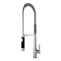 JULIEN 306014 SKY PROFESSIONAL KITCHEN FAUCET WITH FLEXIBLE SPOUT IN BRUSHED PLATINUM