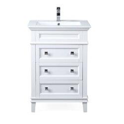 CHANS FURNITURE ZK-1810-Z24W 24 INCH TENNANT BRAND FELIX BATHROOM VANITY IN WHITE
