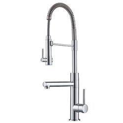 KRAUS KPF-1603 ARTEC PRO 2-FUNCTION COMMERCIAL STYLE PRE-RINSE KITCHEN FAUCET WITH PULL-DOWN SPRING SPOUT AND POT FILLER