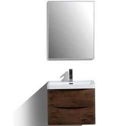 EVIVA EVVN600-24-FS SMILE 24 INCH MODERN BATHROOM VANITY SET WITH INTEGRATED WHITE ACRYLIC SINK FREE STANDING