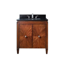 AVANITY BRENTWOOD-VS31-NW-A BRENTWOOD 31 INCH VANITY COMBO WITH IMPALA BLACK GRANITE TOP