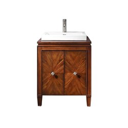 AVANITY BRENTWOOD-VS25-NW BRENTWOOD 25 INCH VANITY COMBO WITH SEMI-RECESSED SINK