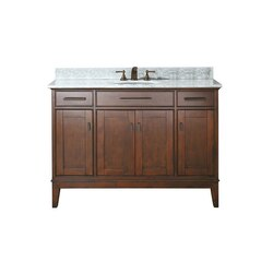 AVANITY MADISON-VS48-TO-C MADISON 48 INCH VANITY COMBO WITH CARRERA WHITE MARBLE TOP