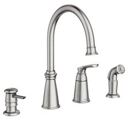 MOEN 87044SRS WHITMORE ONE-HANDLE HIGH ARC KITCHEN FAUCET WITH SIDE SPRAY IN SPOT RESIST STAINLESS
