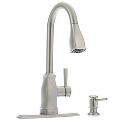 MOEN 87024MSRS HENSLEY SPOT RESIST STAINLESS MICROBAN ONE-HANDLE HIGH ARC PULLDOWN KITCHEN FAUCET