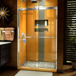 DREAMLINE SHDR-6348762 SAPPHIRE 44-48 W X 76 H SEMI-FRAMELESS BYPASS SHOWER DOOR