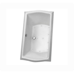 TOTO ABA785L#01N CLAYTON 66 X 34 X 26 INCH AIR BATHTUB WITH LEFT KEYPAD IN COTTON