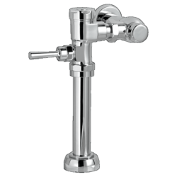 AMERICAN STANDARD 6047.161.002 EXPOSED MANUAL TOP SPUD TOILET FLUSH VALVE IN POLISHED CHROME, 1.6 GPF