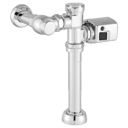 AMERICAN STANDARD 6047SM.111.002 MANUAL TOILET FLUSH VALVE WITH SIDE-MOUNT OPERATOR IN POLISHED CHROME, 1.1 GPF