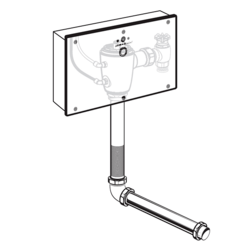 AMERICAN STANDARD 606B.312.007 SELECTRONIC SENSOR-OPERATED CONCEALED BASE MODEL TOILET FLUSH VALVE WITH WALL BOX FOR WALL-HUNG BACK SPUD BOWLS, 1.1 GPF