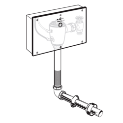 AMERICAN STANDARD 606B.321.007 SELECTRONIC SENSOR-OPERATED CONCEALED BASE MODEL TOILET FLUSH VALVE WITH WALL BOX FOR FLOOR-MOUNT BACK SPUD BOWLS, 1.28 GPF