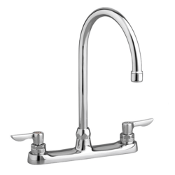 AMERICAN STANDARD 6405.140.002 MONTERREY TWO HANDLE TOP-MOUNT FAUCET WITH 5 INCH GOOSENECK SPOUT IN POLISHED CHROME, 1.5 GPM